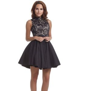 Size 32 Chi Chi London Black Lace Cocktail Dress